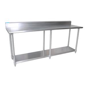 BK Resources CVTR W X D Gauge Stainless Steel Work - 16 gauge stainless steel work table