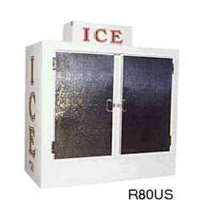 Roesch, Inc R80US-CW Ice Maid 75 Cu.Ft 2 Door Ice Bag Freezer Merchandiser
