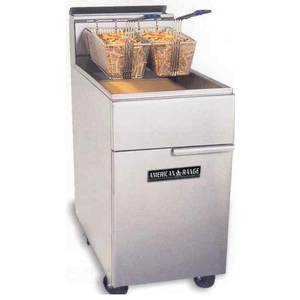 American Range AF-75 75lb Gas Commercial Deep Fat Fryer Heavy Duty Stainless