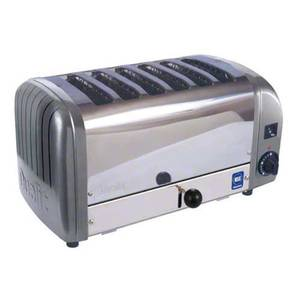 Cadco CTW-6M 6 Slot Toaster Stainless / Metallic Grey