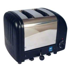Cadco CBT-2 2 Slot Bagel Toaster Stainless / White or Black