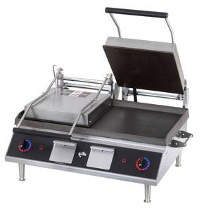 Star GR28IB Two Sided Sandwich Grill - Iron / Smooth-14 X 28