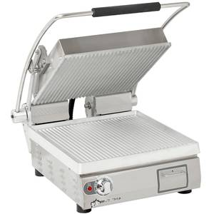 Star Two Sided Panini Sandwich Grill - Aluminum/Grooved 14 X 14 - PGT14