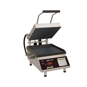 Star PGT14IEGT Panini Sandwich Grill Grooved Top Smooth Bottom w/ Timer