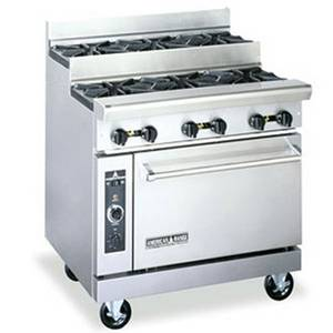 American Range Commercial Step Up 4 Open Burner Gas Range w/ 26.5 Oven - AR-4-SU