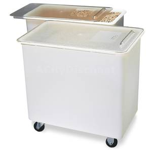 BIN3602 36 Gallon Carlisle Mobile Ingredient Bin w/ Clear Lid