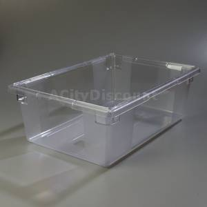 Carlisle 4ea. Storplus Clear Food Storage Boxes 18in x 26in x 9in - 1062207
