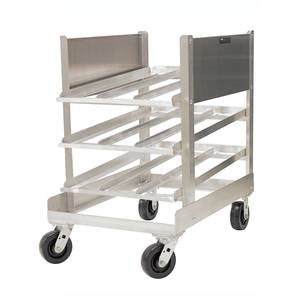 PVI Food Service 36x25x40 Aluminum Can Rack w/ Casters Holds 54 No.10 cans - CR054C