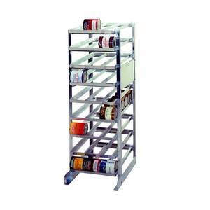 PVI Food Service 36in x 25in x 72in Aluminum Can Rack Holds 162 #10 Cans - CR1620