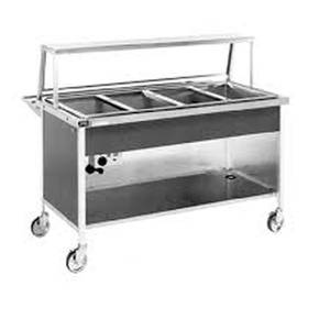 Atlas Metal Industries CAH-6 Commercial 6 Compartment Electric Steam Table w/ Casters