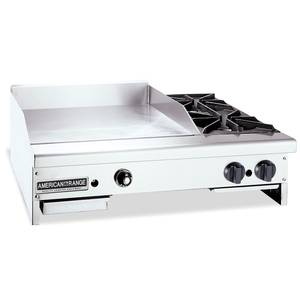 American Range AR60-48G2OB 48in Gas Griddle w/ 2 Open Burners