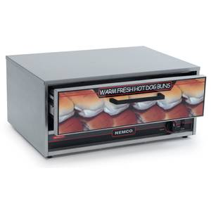Nemco 8045W-BW Stainless Moist Heat Hot Dog Bun Warmer 64 Bun Capacity