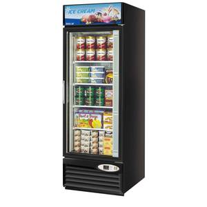 Turbo Air 23cf Glass Door Merchandiser Freezer Black Exterior - TGF-23FB