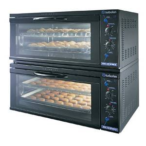 Moffat Double Stack Full Size 2 Pan Electric Convection Ovens - TURBOFAN E27MS/2
