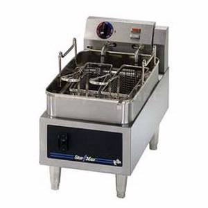 Star-Max Counter 15lb Single Pot Twin Basket Electric Fryer - 515ED