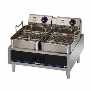 530TD Star-Max Counter 30lb Twin Pot Twin Basket Electric Fryer