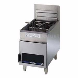 404D Star-Max Counter 18lb Tube Type Twin Basket Gas Fryer