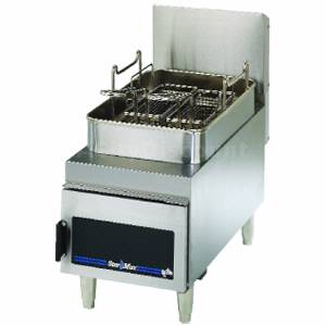 615FD Star-Max Counter 15lb Under Fired Twin Basket Gas Fryer