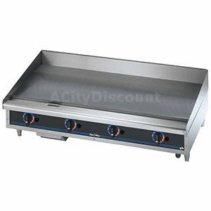 Star-Max Counter 48in Gas Griddle With Thermostat Controls - 648TD