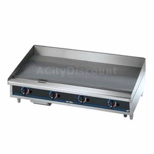 Star Countertop 48in Gas Griddle With Thermostat & Safety Pilot - 648TSPD