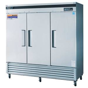 Turbo Air TSR-72SD 72 Cu.Ft Commercial Refrigerator 3 Solid Door Reach-in