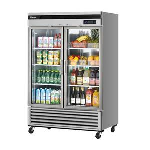 Turbo Air 49cf Commercial Reach-In Cooler Refrigerator 2 Glass Doors - MSR-49G-2