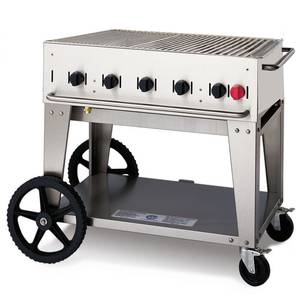 Crown Verity, Inc. 36in Stainless Steel Natural Gas Outdoor Charbroiler Grill - MCB-36NG