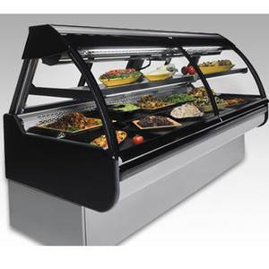 Federal 52 x 54 Refrigerated Maxi Curved Glass Seafood Case - MCG-454-DF