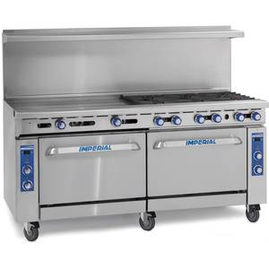 Imperial Range 60in Restaurant Range 4 Gas Burner w/ 36in Griddle & Oven - IR-4-G36