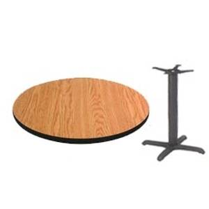 American Tables & Seating C24 + T2222 Reversible 24in Round Table Top w/ 22 x 22 Base