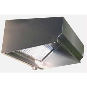 Superior Hoods VSE48-9 9Ft Stainless Steel Restaurant Range Grease Hood NSF NFPA96