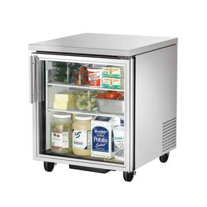 True TUC-27G 27in Undercounter Refrigerator 6.5 Cu.Ft w/ Glass Door