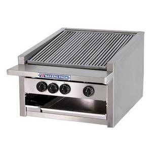 Bakers Pride Low Profile 24 Glo Stone Countertop Gas Charbroiler - L-24GS