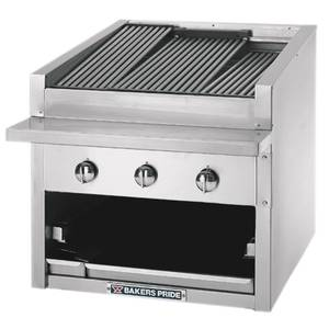Bakers Pride 30 Standard Profile Countertop Glo Stone Gas Charbroiler - C-30GS
