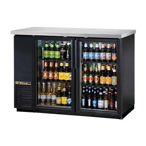 True 48 Two Section Back Bar Cooler w/ 2 Glass Doors - TBB-24-48G-LD