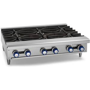 Imperial Range IHPA-6-36 36 Commercial Gas Hot Plate Counter Top 6 Burner NSF