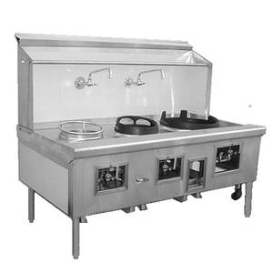 American Range Commercial 4 Burner Chinese Gas Range 114 Wide - ARCR-4