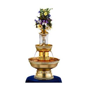 Apex Fountains 3022-G Duchess 3 Gallon Champagne Beverage Fountain Gold Aluminum