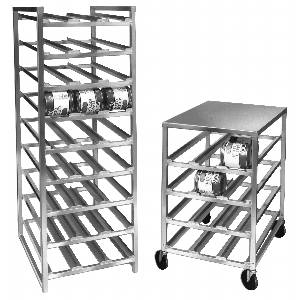 Channel Manufacturing Aluminum Top Mobile Can Rack - 72 #10 cans - CSR-4M