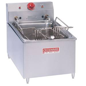 GMCW EL270 Counter Top 15lb Electric Fryer W/ 4in Legs & 2 Baskets