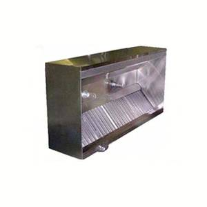 Superior Hoods 8ft x 4ft Stainless Restaurant Range Grease Hood NSF NFPA96 - BSSM48-8