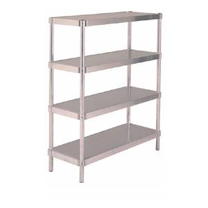 PVI Food Service Shelving Unit Heavy-Duty Aluminum 24x48x60 w 4 Shelves - N246048-4