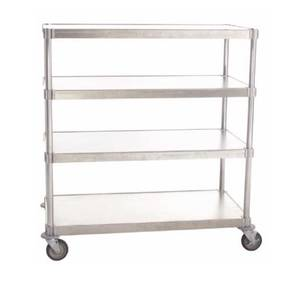 PVI Food Service N244860-4-CHL2 Mobile Shelving Unit Heavy Duty Aluminum 24 x 60 x 54