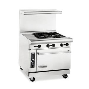 American Range AR12G-4BC 36 Gas Range w/ 4 Burners, 12 Griddle & Convection Oven