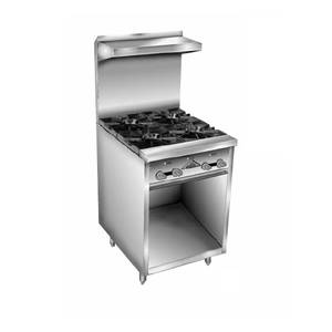 Comstock Castle F32-24B 24 Gas Range W/ 24 Raised Griddle & Open Cabinet Base