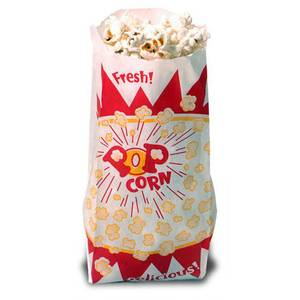 Benchmark 41002 1-1/2 oz Disposable Popcorn Serving Bags Case of 1000