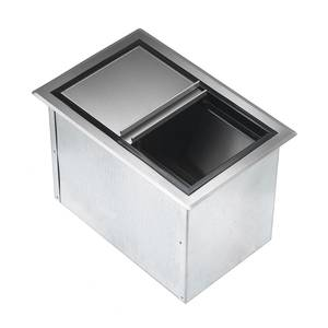 Krowne Metal D278 20 x 15 Drop-In Ice Bin Insulated with Sliding Cover S/s