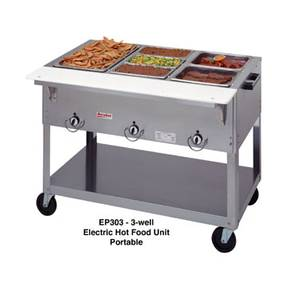 Duke Manufacturing Electric Aerohot 2 Compartment Hot Food Table Sealed Wells - E302SW