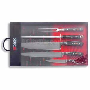 F. Dick 8106600 5 Piece Gourmet Forged Knife Set