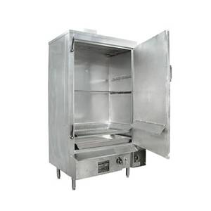 Town Food Service Equipment 36 Galvanized MasterRange Smokehouse Nat Gas Right Hinged - SM-36-R-STD-N